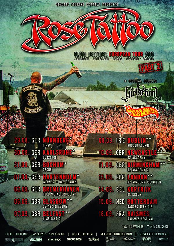 rose tattoo tour 2018